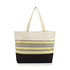 Beach Collection - Yellow striped shopper bag
