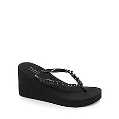 Beach Collection - Black wedge sandals