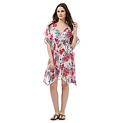 Gorgeous DD+ - Multi-coloured floral print kaftan