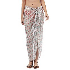 Beach Collection - Multi-coloured diamond print sarong