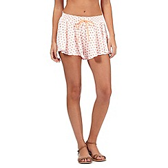 Floozie by Frost French - Orange neon floral print shorts