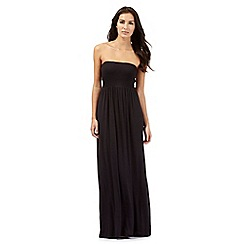 Beach Collection - Black bandeau maxi dress