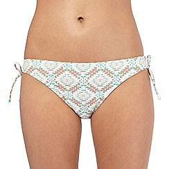 Beach Collection - Multi-coloured chevron side tie bikini bottoms