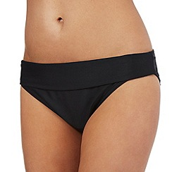 Beach Collection - Black fold bikini bottoms