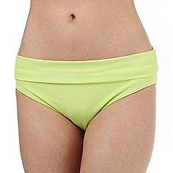 Beach Collection - Lime fold bikini bottoms