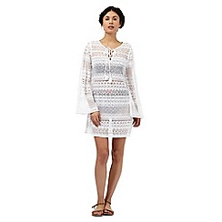Floozie by Frost French - White lace sleeveless dress