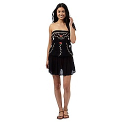 Floozie by Frost French - Black floral embroidered dress