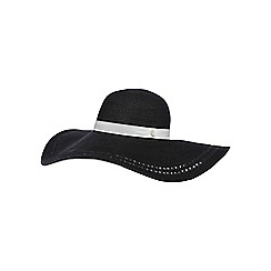 Floozie by Frost French - Black large floppy hat