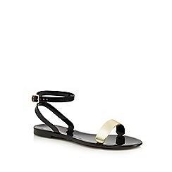 Floozie by Frost French - Black metallic strap jelly sandals