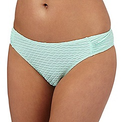 Red Herring - Pale green textured bikini bottoms
