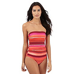 J by Jasper Conran - Multi-coloured striped bandeau swimsuit
