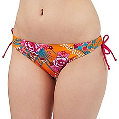 Gorgeous DD+ - Orange floral print bikini bottoms
