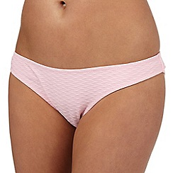 Red Herring - Pink textured bikini bottoms