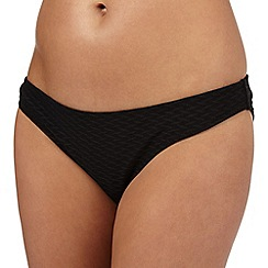 Red Herring - Black textured bikini bottoms
