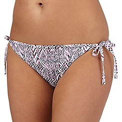 Red Herring - Pink chevron print bikini bottoms