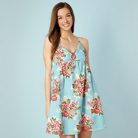 Red Herring - Blue rose garden dress - size 10