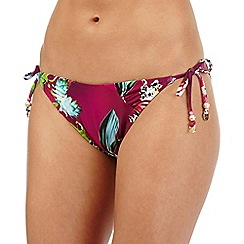 Butterfly by Matthew Williamson - Pink tiger lily print bikini bottoms