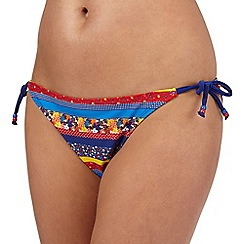 Red Herring - Multi-coloured floral print bikini bottoms