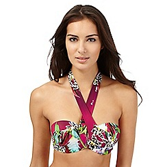 Butterfly by Matthew Williamson - Pink tiger lily print bikini top