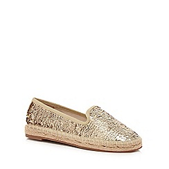 Butterfly by Matthew Williamson - Gold sequin espadrille shoes