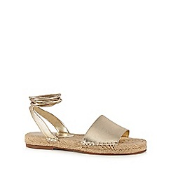 Butterfly by Matthew Williamson - Gold textured espadrille sandals