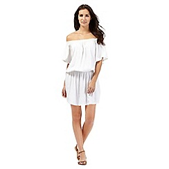 Beach Collection - White Bardot dress