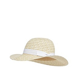 Beach Collection - Cream spot bow hat