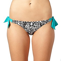 Beach Collection - Black cobble print tie side bikini bottoms