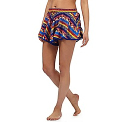 Red Herring - Multi-coloured floral print shorts
