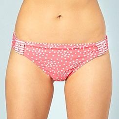 Gorgeous - Peach spotted button bikini bottoms