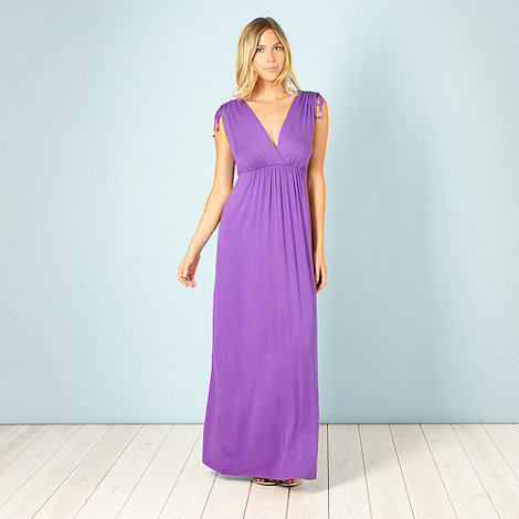 Gorgeous DD+ - Purple jersey maxi dress - size 16