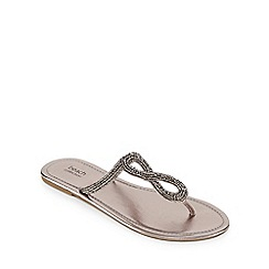Beach Collection - Dark grey embellished sandals