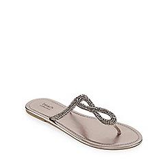 Beach Collection - Dark grey embellished sandals