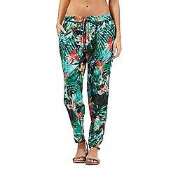 Butterfly by Matthew Williamson - Green jungle print trousers
