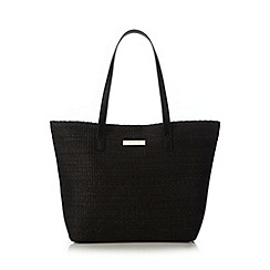 Floozie by Frost French - Black straw shoulder bag