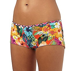 Mantaray - Multi-coloured floral print short bottoms