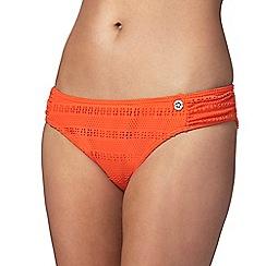 Mantaray - Orange crochet bikini bottoms