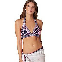 Mantaray - Navy paisley print bikini top