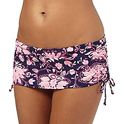 Mantaray - Navy paisley print bikini skirt