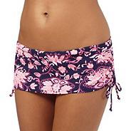 Navy paisley print bikini skirt