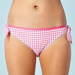 Floozie by Frost French - Designer pink gingham checked bikini bottom