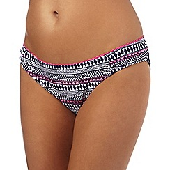Mantaray - Navy geometric striped print bottoms
