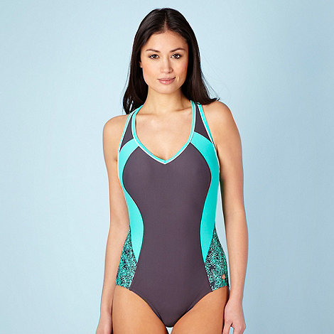 Maine New England - Grey panelled empire line padded swimsuit