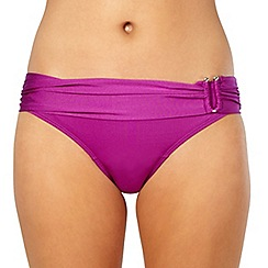 J by Jasper Conran - Designer purple ring side fold bikini bottoms