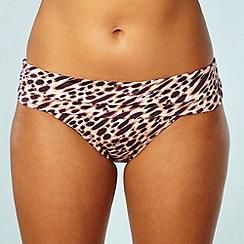 Gorgeous DD+ - Natural leopard printed bikini bottoms