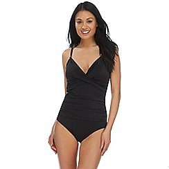 Beach Collection - Black tummy control swimsuit
