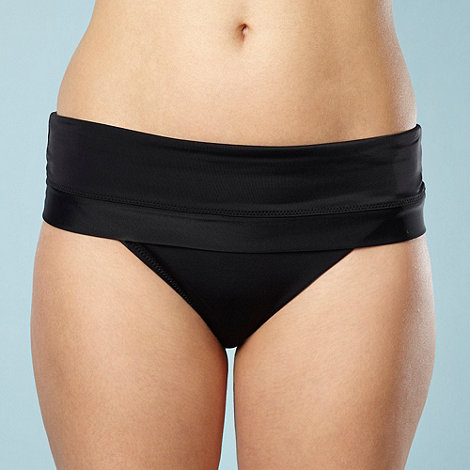 Panache - Black folded bikini bottoms
