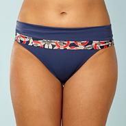 Blue 'nancy' folded bikini bottoms