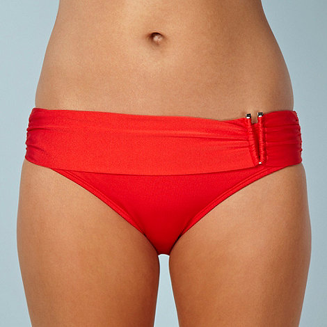 Principles by Ben de Lisi - Designer red plain bikini bottoms