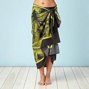 Bright green palm leaf sarong